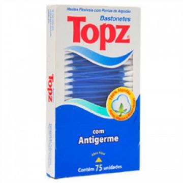 Haste Flexível Cotonete Topz com 75 Unidades