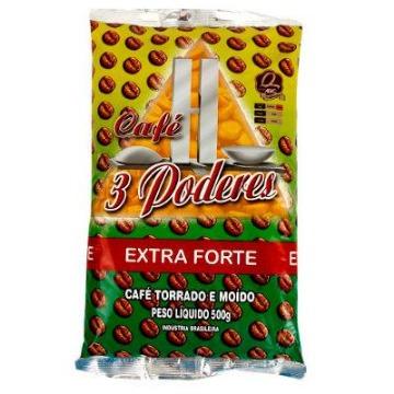 Café 3 Poderes Extra Forte Torrado e Moído 500g