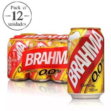 Cerveja Brahma Chopp Zero 350ml C/ 12 Unidade