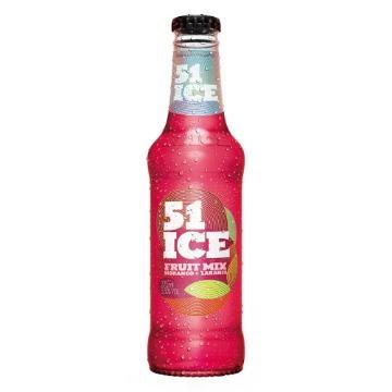 Ice 51 Sabor Fruit Mix Morango + Laranja Garrafa 275ml Gelada - 1 Unidade