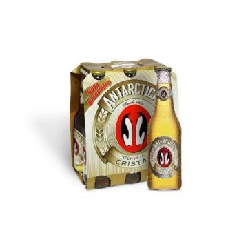 Cerveja Antarctica Cristal 350ml Long Neck 6 Unidades