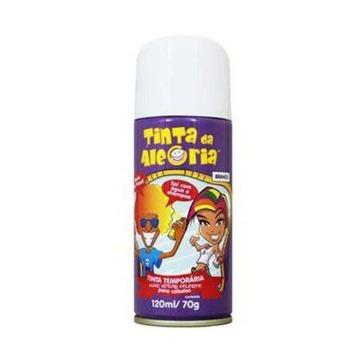 Tinta temporária em spray para cabelo na cor branca