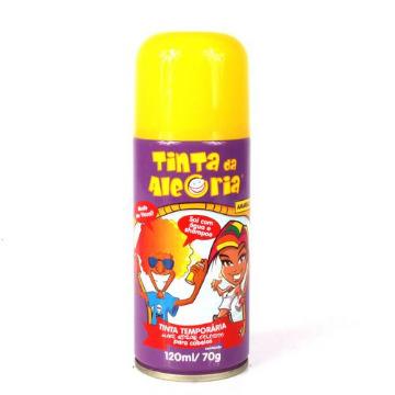Tinta temporária em spray para cabelo na cor Amarela