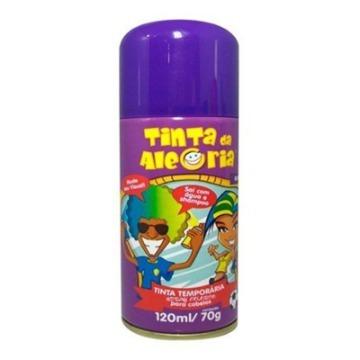Tinta temporária em spray para cabelo na cor  roxa