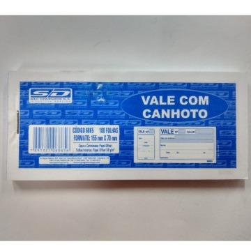 VALE COM CANHOTO 100 FLS 70X155
