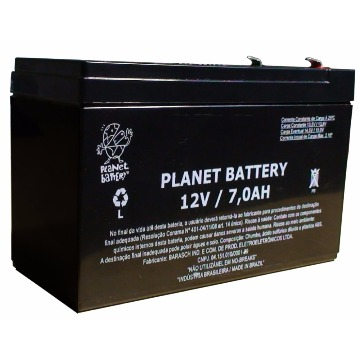 Bateria para No-break 12V 7Ah selada Planet Battery