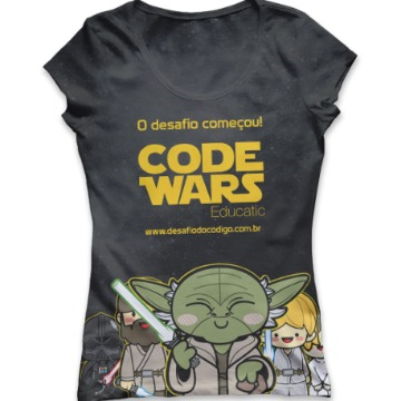 Camiseta Premium Code Wars