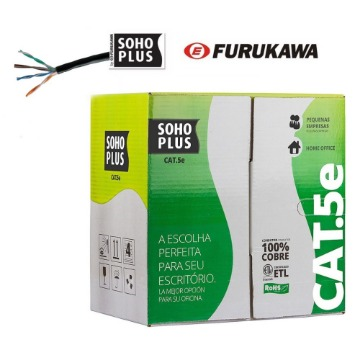 Cabo Elet. U/UTP SOHOPLUS Cat.5e 24AWGX4P CMX – Azul ROHS - Furukawa