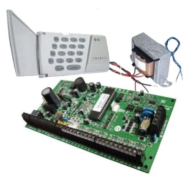 ALARME CENTRAL MONITORADA KIT POSONIC PS100 - 10 Z. PLACA + TECLADO + TRAFO
