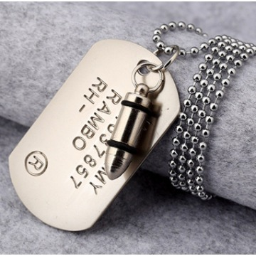DOG TAG U.S ARMY PRATA