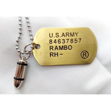 DOG TAG U.S ARMY DOURADO