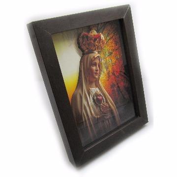 Porta Retrato-Nossa Senhora de Fatima-18x24-Tabaco-1015