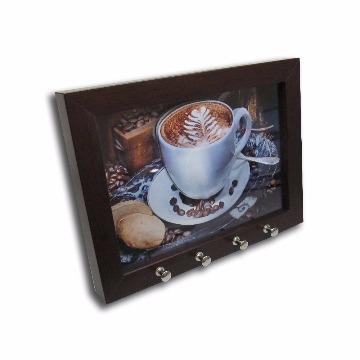 Porta Chave-Café e Biscoito-18x24-Tabaco-2000000000372