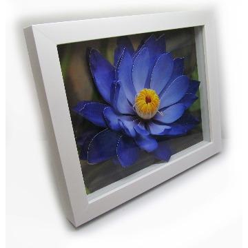 Quadro-Flor Azul-23x28-Branco-6005