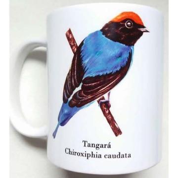 Tangará - caneca de porcelana