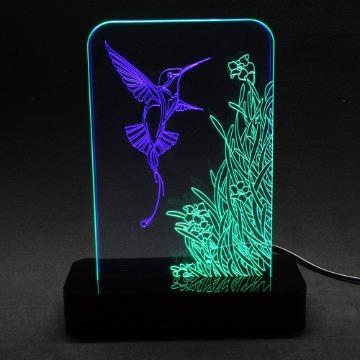 Beija-flor - Luminária Acrílico e Led