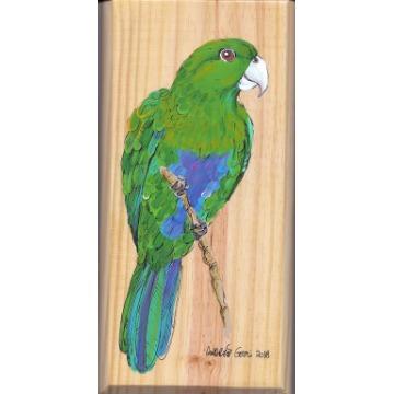 Sabiá-cica - arte em madeira Bio & Mãe Terra