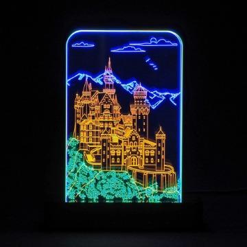 Castelo - Luminária Acrílico e Led