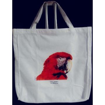 Arara-Vermelha - sacola de Pano