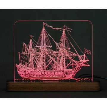 Navio Mary Rose - Luminária Acrílico e Led