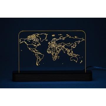 Mapa Mundi 2 - Luminária Acrílico e Led