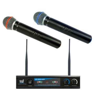 MICROFONE TSI S/ FIO UD-800 DUPLO UHF