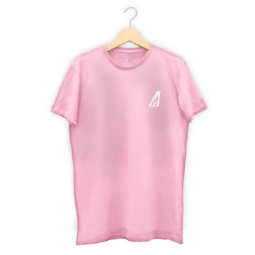Camiseta Long Abbove Rock - Rosa