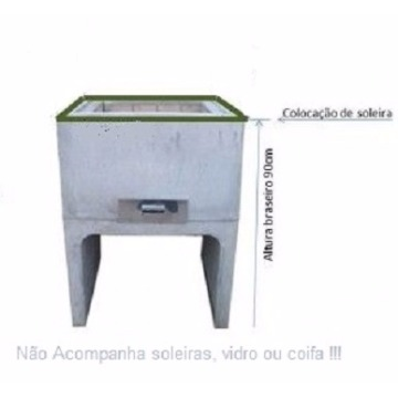 * Base da Churrasqueira Pré-Moldado Concreto Liso