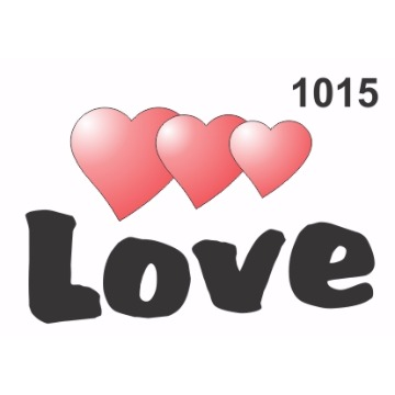 1015 – Molde PVC –  Love