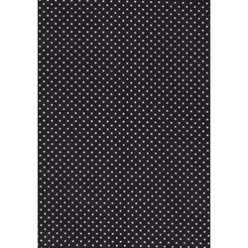 Tecido P301 - Preto e Branco -  Termocolante - Fast Patch