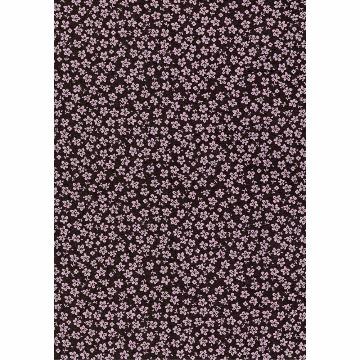 Tecido -  E494 - hawaii Marrom - Termocolante Fast Patch