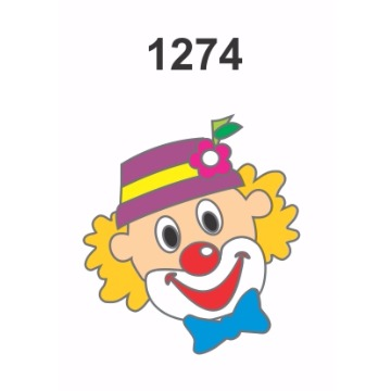 1274 - Molde PVC – Palhaço