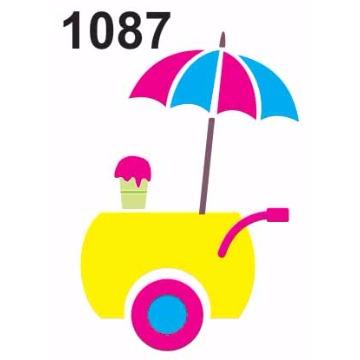 1087 - Molde PVC - Carrinho sorvete