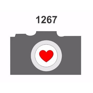 1267 - Molde PVC – Câmera Fotográfica