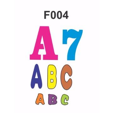 F004 - Molde PVC – Letras e Números - P, M e G