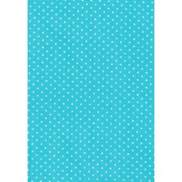 Tecido P303 -  Azul e Branco - Termocolante - Fast Patch