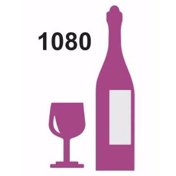 1080 - Molde PVC - Vinho e Taça