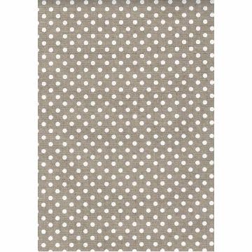 Tecido - E497 - Bege Claro Bola Branca  - Termocolante Fast Patch