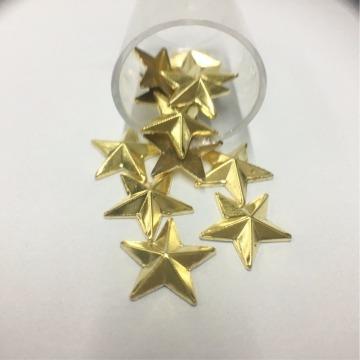 Metal Estrela  13mm – Dourado  - 12 uni