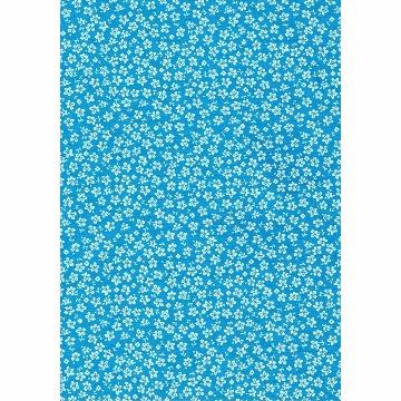 Tecido - E536 - Hawaii Azul - Termodinamico Fast Patch