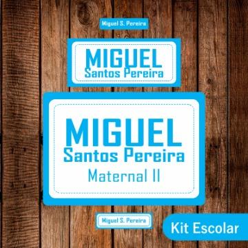 Kit Escolar - Adesivos e Etiquetas  - AZUL