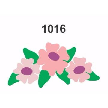 1016– Molde PVC –  Flores