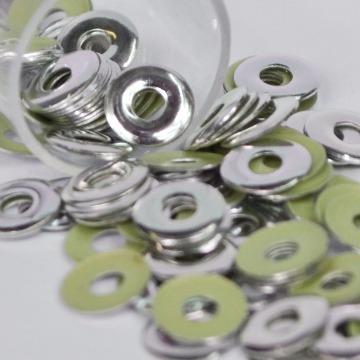 Metal Ilhós 6mm – Prata  - 100 uni