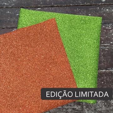 Kit Glitter Laranja e Verde Claro - 6 uni - EDIÇÃO LIMITADA