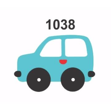 1038– Molde PVC –  Carro