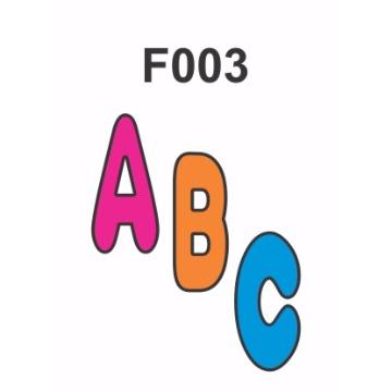 F003 - Molde PVC – Letras 6cm de Altura
