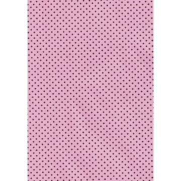 Tecido P317 - Rosa Claro e Marrom - Termocolante - Fast Patch