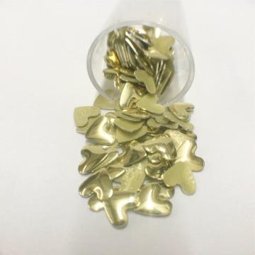 Metal Coração  6mm – Dourado  - 100 uni