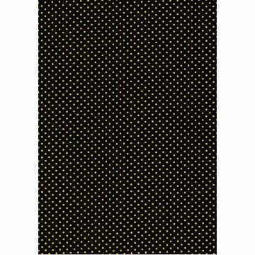 Tecido P327- Preto e Amarelo - Termocolante - Fast Patch