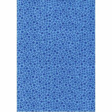 Tecido - E499 - Primavera Blue  - Termocolante Fast Patch